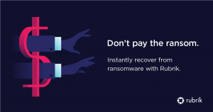 Rubrik Ransomware protection